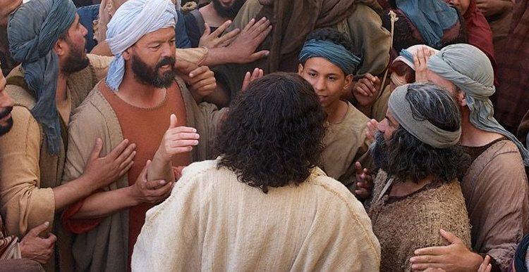 Jézus és a tömeg