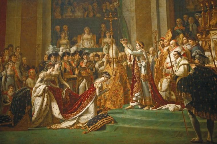 Napóleon megkoronázása. A pápa csak statisztált a ceremónián.